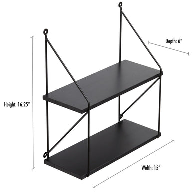 2 Tiered Floating Shelf - Shelf - Americanflat