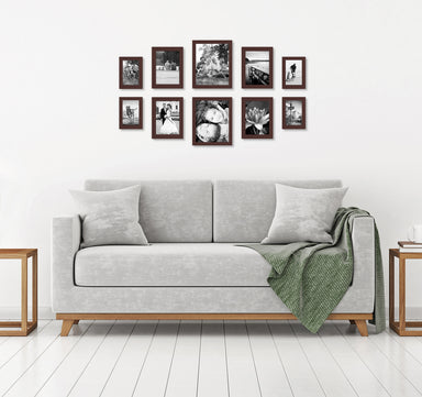 10-Piece Multi Pack; Includes 8x10, 5x7, and 4x6 Frames, Gallery Set - Picture Frame - Americanflat