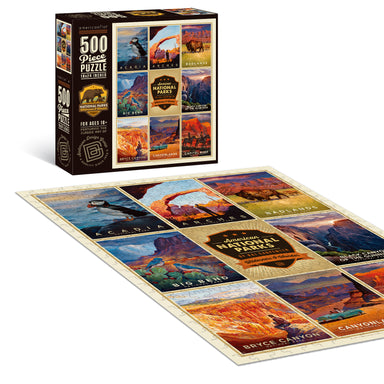 "500 Piece Jigsaw Puzzle, 18x24 Inches, ""American National Parks 1"" Art by Anderson Design Group - Jigsaw Puzzle - Americanflat"