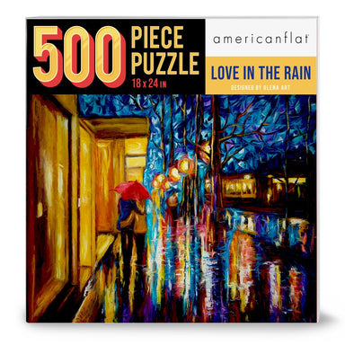 "500 Piece Puzzle 18""x24"" - Love in the Rain by Olena Art - Jigsaw Puzzle - Americanflat"