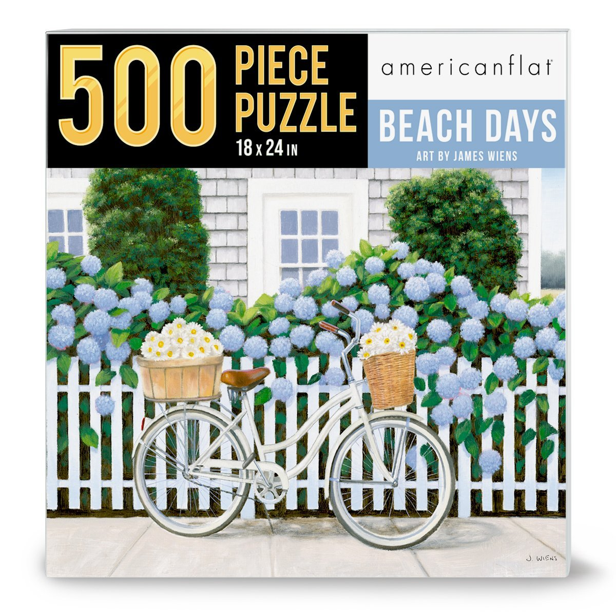 "500 Piece Jigsaw Puzzle, 18x24 Inches, ""Beach Days II"" Artwork by Wild Apple - Jigsaw Puzzle - Americanflat"