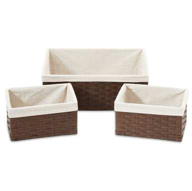 Woven Paper Storage Baskets - Set of 3 - Basket - Americanflat