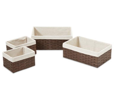 Woven Paper Storage Baskets - Medium Size Set of 4 - Basket - Americanflat