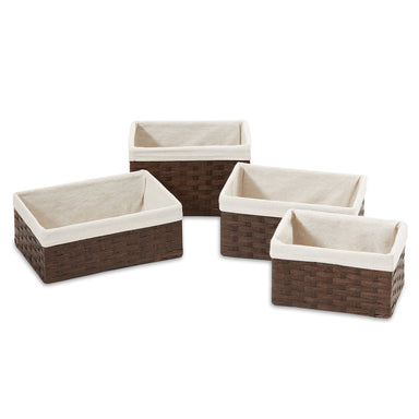 Rectangular Woven Paper Storage Baskets - Set of 4 - Basket - Americanflat
