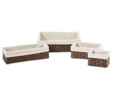 Woven Paper Storage Baskets - Small Size Set of 4 - Basket - Americanflat