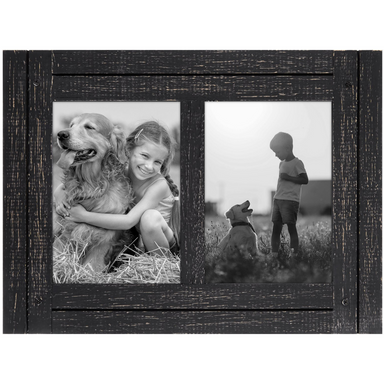 Rustic Collage Picture Frame - 2 Openings - Americanflat