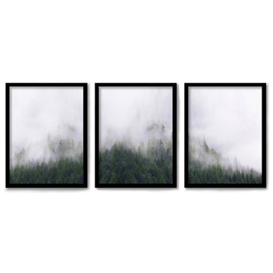 Stormy Moutains by Tanya Shumkina 3 Piece Framed Triptych