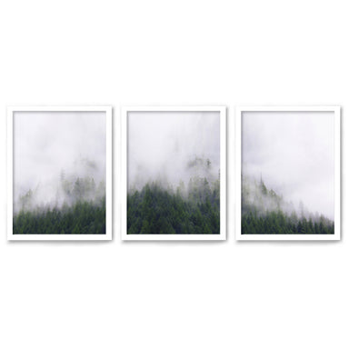 Stormy Moutains by Tanya Shumkina - 3 Piece Framed Triptych Wall Art Set - Americanflat