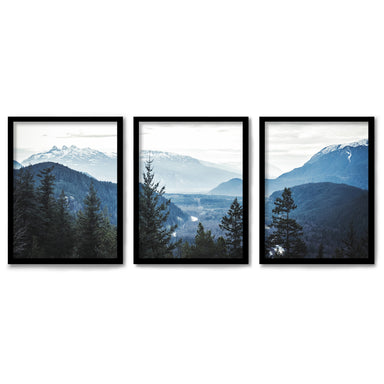 Morning Mountain Views by Tanya Shumkina 3 Piece Framed Triptych