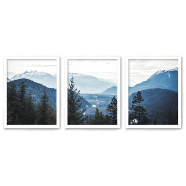 Morning Mountain Views by Tanya Shumkina - 3 Piece Framed Triptych Wall Art Set - Americanflat