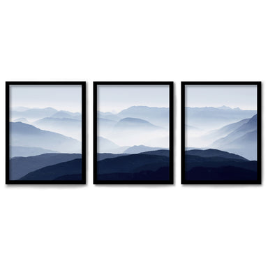Panoramic Mountains by Tanya Shumkina 3 Piece Framed Triptych