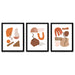 Terracotta Abstract Shapes by Wall + Wonder 3 Piece Framed Triptych