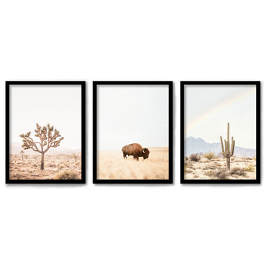 Neutral Southwest by Sisi and Seb 3 Piece Framed Triptych
