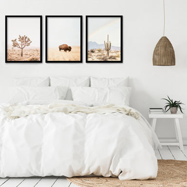 Neutral Southwest by Sisi and Seb 3 Piece Framed Triptych - Americanflat