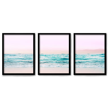 Pastel Beaches by Tanya Shumkina 3 Piece Framed Triptych