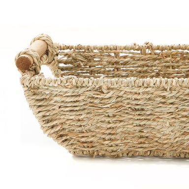 Hand Woven Seagrass Storage Basket - Basket - Americanflat