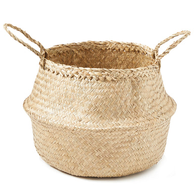 Natural Palm and Seagrass Basket - Basket - Americanflat