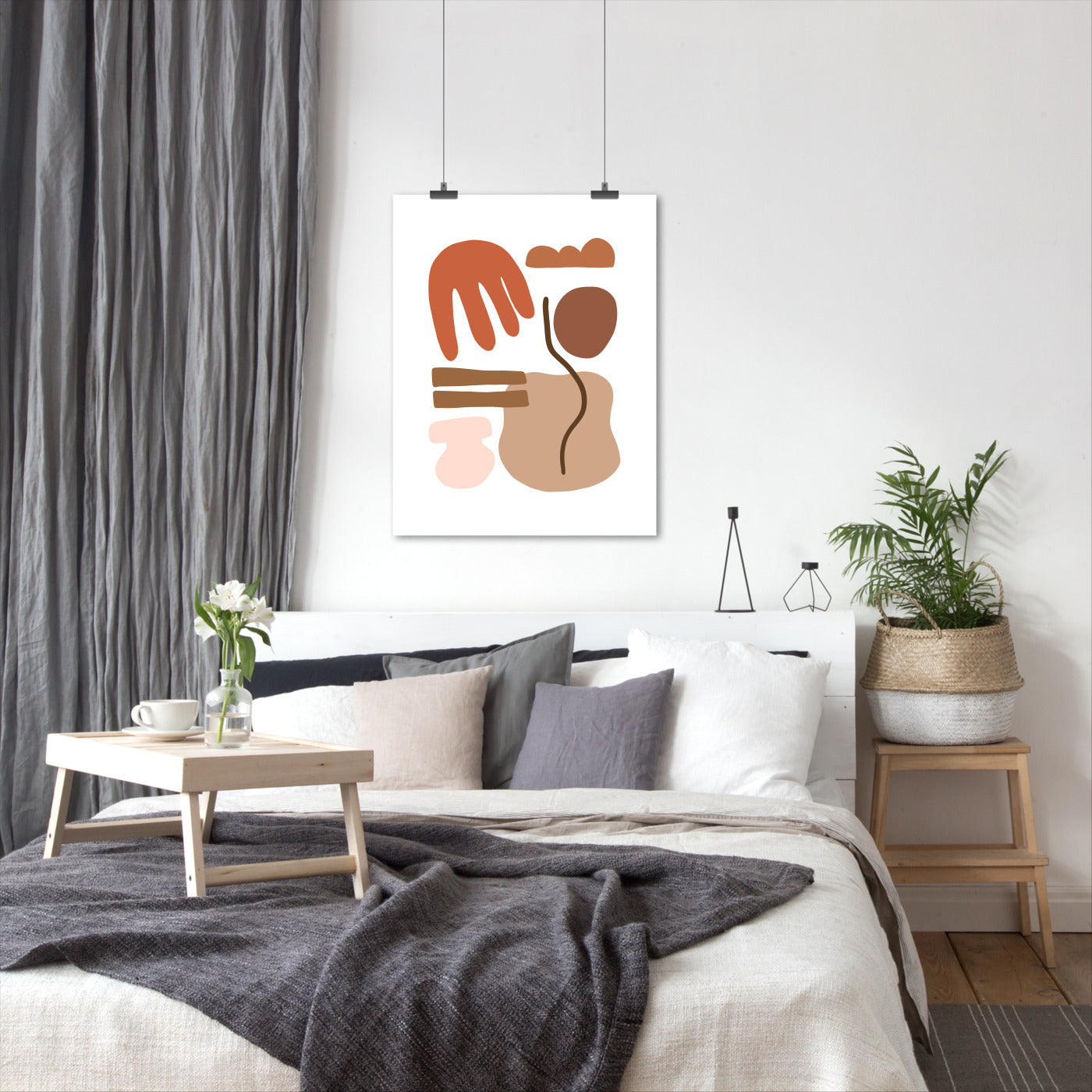 Beige Terracotta Abstract Mid Century by Wall + Wonder - Americanflat