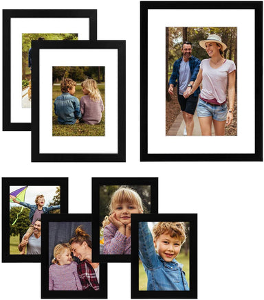 Black Wood Gallery Wall Frame Set - 7 Pack - Gallery Wall Frames - Americanflat