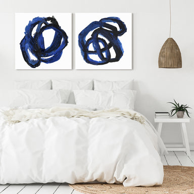 Eternal Indigo by PI Creative Art - 2 Piece Gallery Wrapped Canvas Set - Art Set - Americanflat