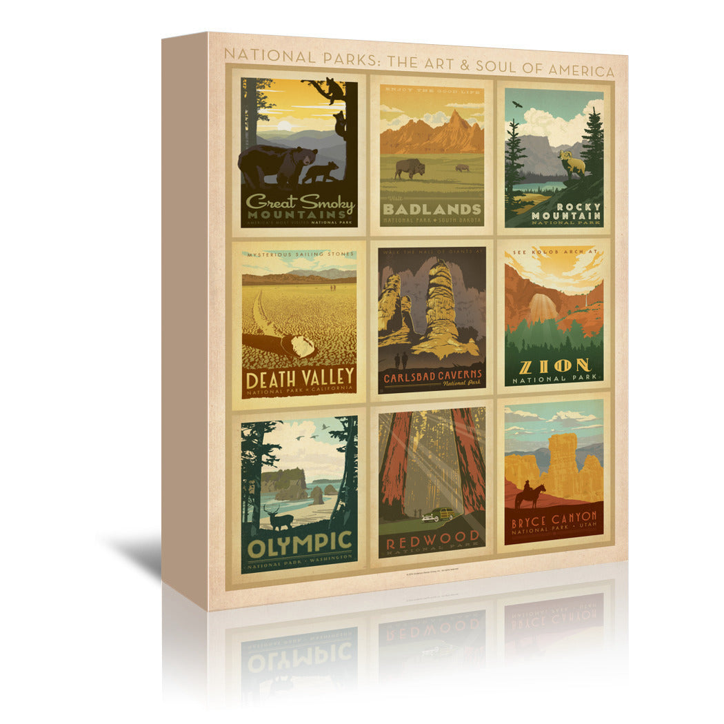 U.S. National Parks by Anderson Design Group Canvas Art Set - Wrapped Canvas - Americanflat