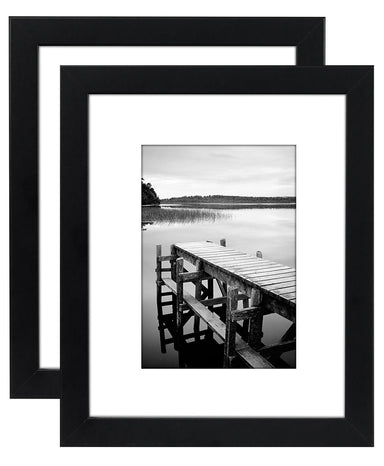 Picture Frames with Shatter Resistant Glass Horizontal and Vertical Formats for Wall and Tabletop - Picture Frame - Americanflat