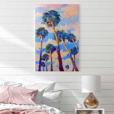 Palm Trees From The Beach by Suren Nersisyan Wrapped Canvas - Wrapped Canvas - Americanflat