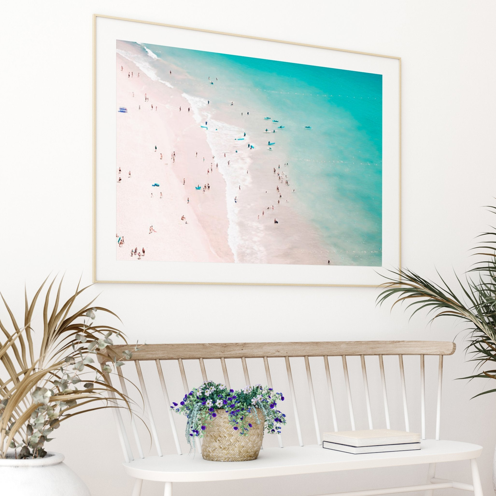 Beach Summer Love by Ingrid Beddoes Art Print - Art Print - Americanflat