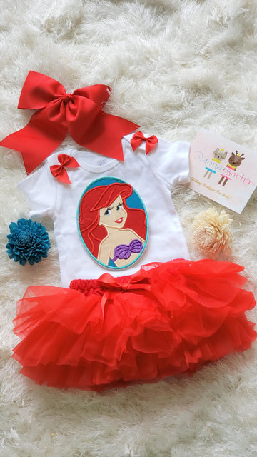 Princess Ariel Birthday Tutu Outfit