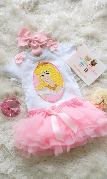 Princess Aurora Birthday Tutu Set