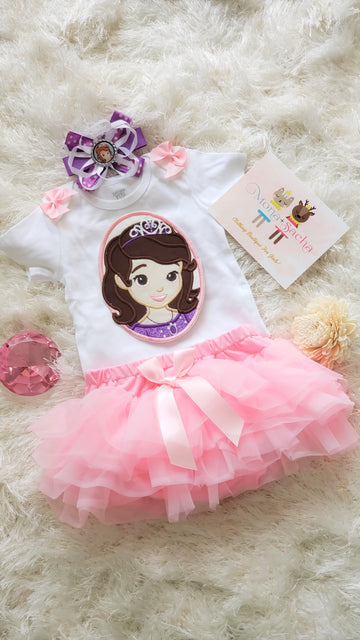 Sofia the First Birthday Tutu Set
