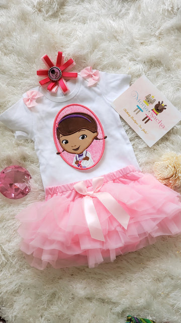 Doc McStuffins Birthday Tutu Set