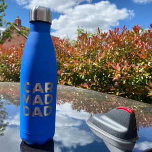 CAR MAD DAD personalised bottle