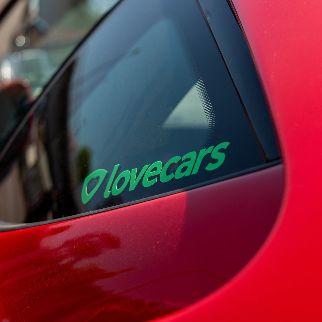 Lovecars sticker (green)