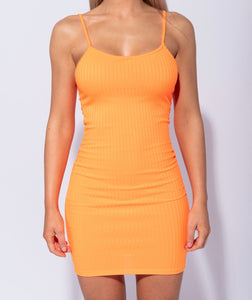 Who Loves Orange Soda - Rib Knit Cami Dress