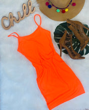 Load image into Gallery viewer, Who Loves Orange Soda - Rib Knit Cami Dress
