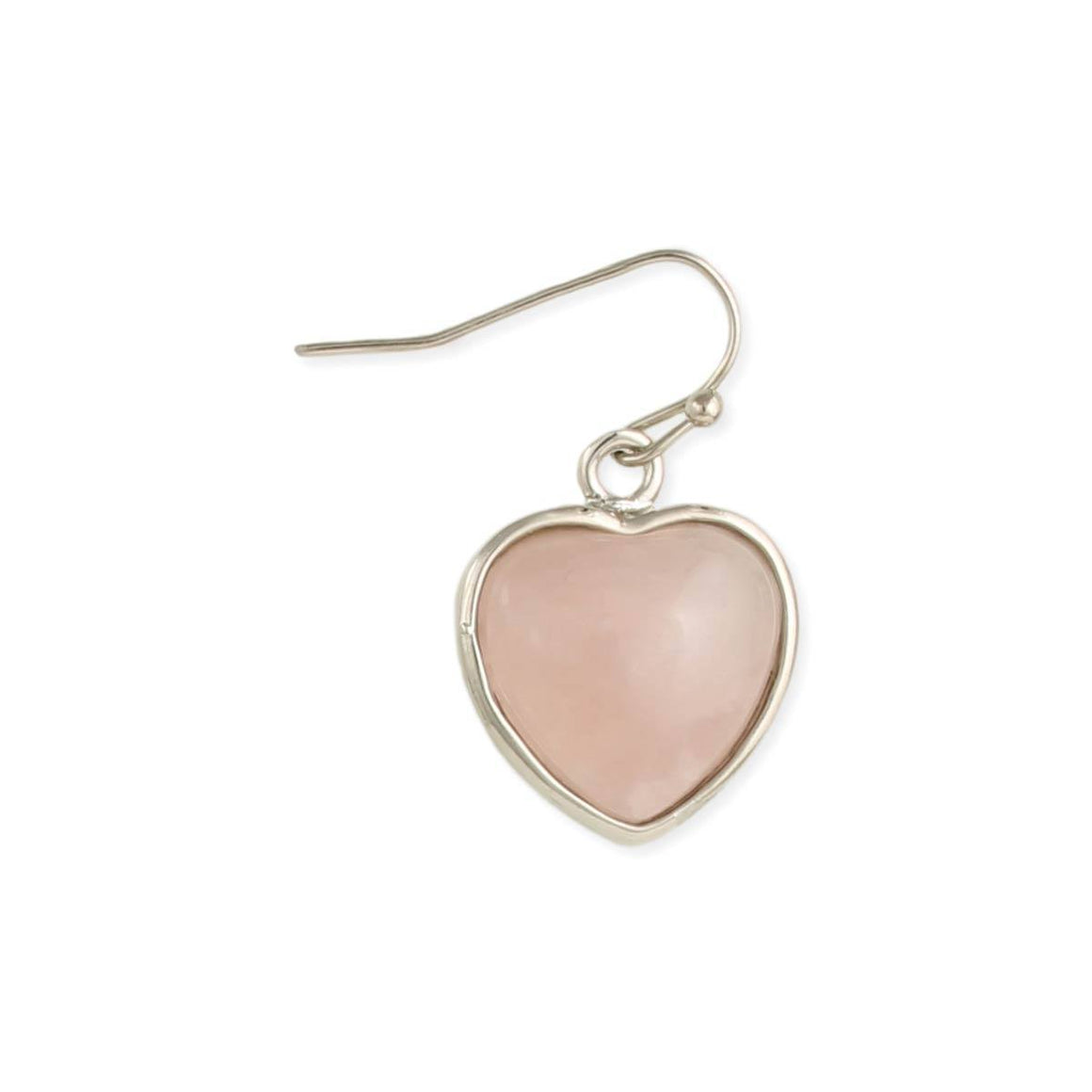 Semi-Precious Stone Heart Earrings