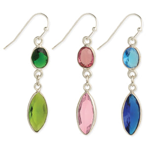 Two Toned Crystal Marquis Earrings