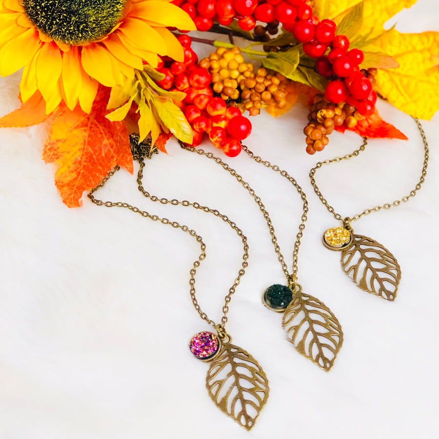 Falling Leaves of Love Necklace