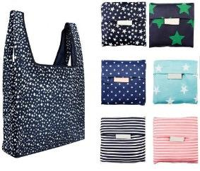 Reusable and Washable Folding Totes