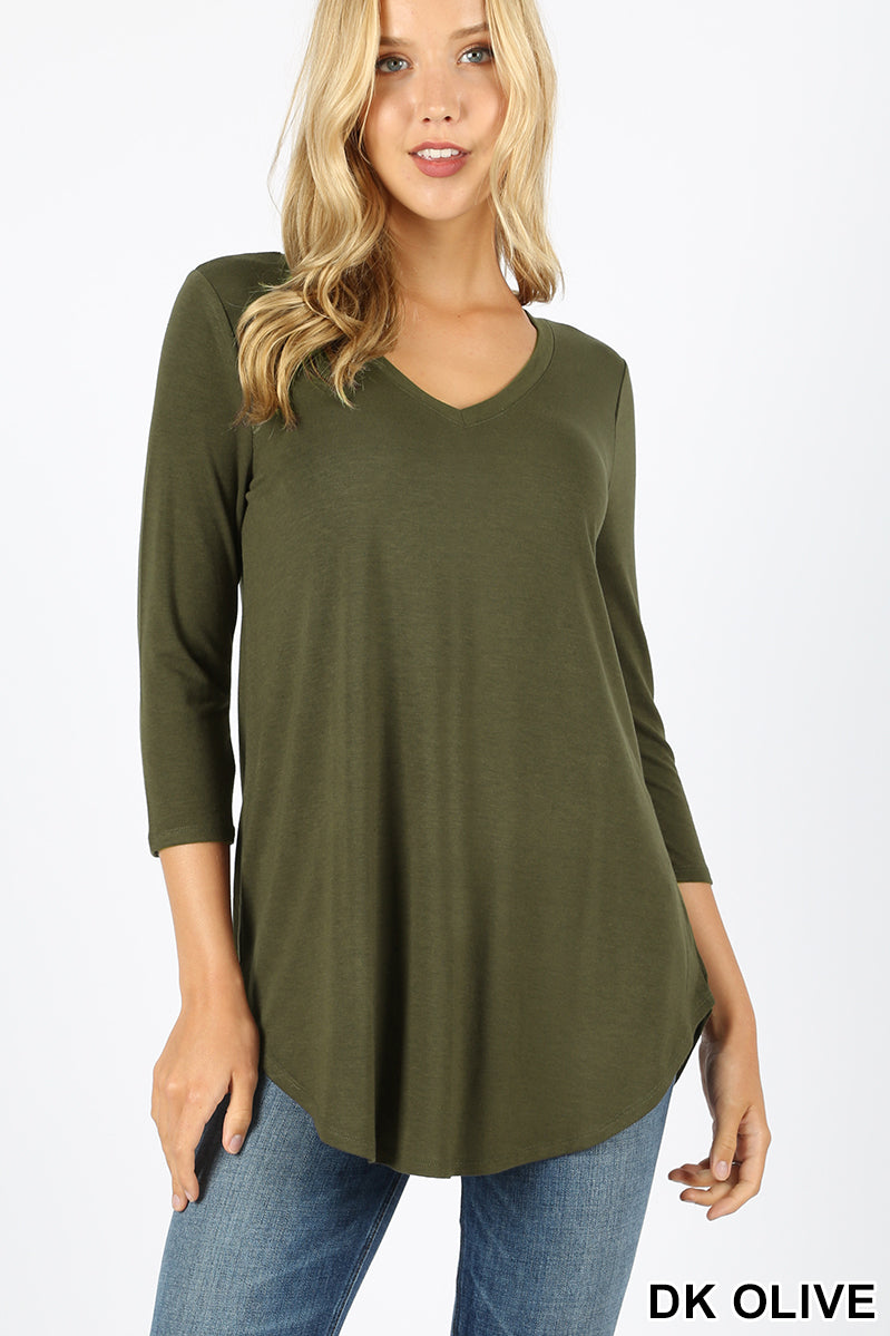 V Neck Wardrobe Staple Tee