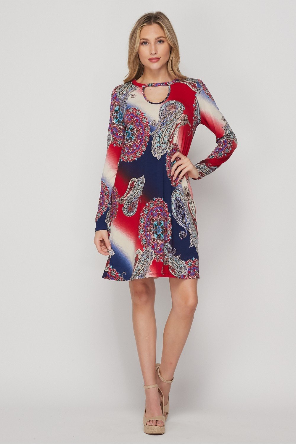 Land of the Free Paisley Dress