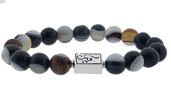 caedentes - Classic Eye Agate  (10mm) silver - Caedentes Clan -