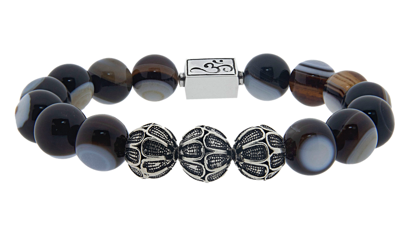 caedentes - Premium Eye Agate  (12mm) silver - Caedentes Clan -