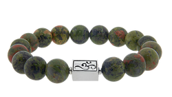 caedentes - Classic Green Jasper (12mm) silver - Caedentes Clan -