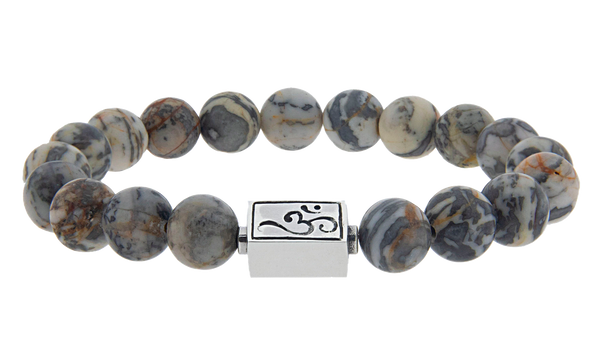 caedentes - Classic grey Jasper (10mm) silver - Caedentes Clan -