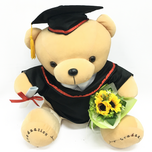 "14"" Graduation Bear with Flower (TT-179)"