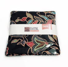 Batik Coaster made with black batik cloth in 2pc per pack