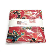 Batik Coaster made with red batik cloth in 2pc per pack