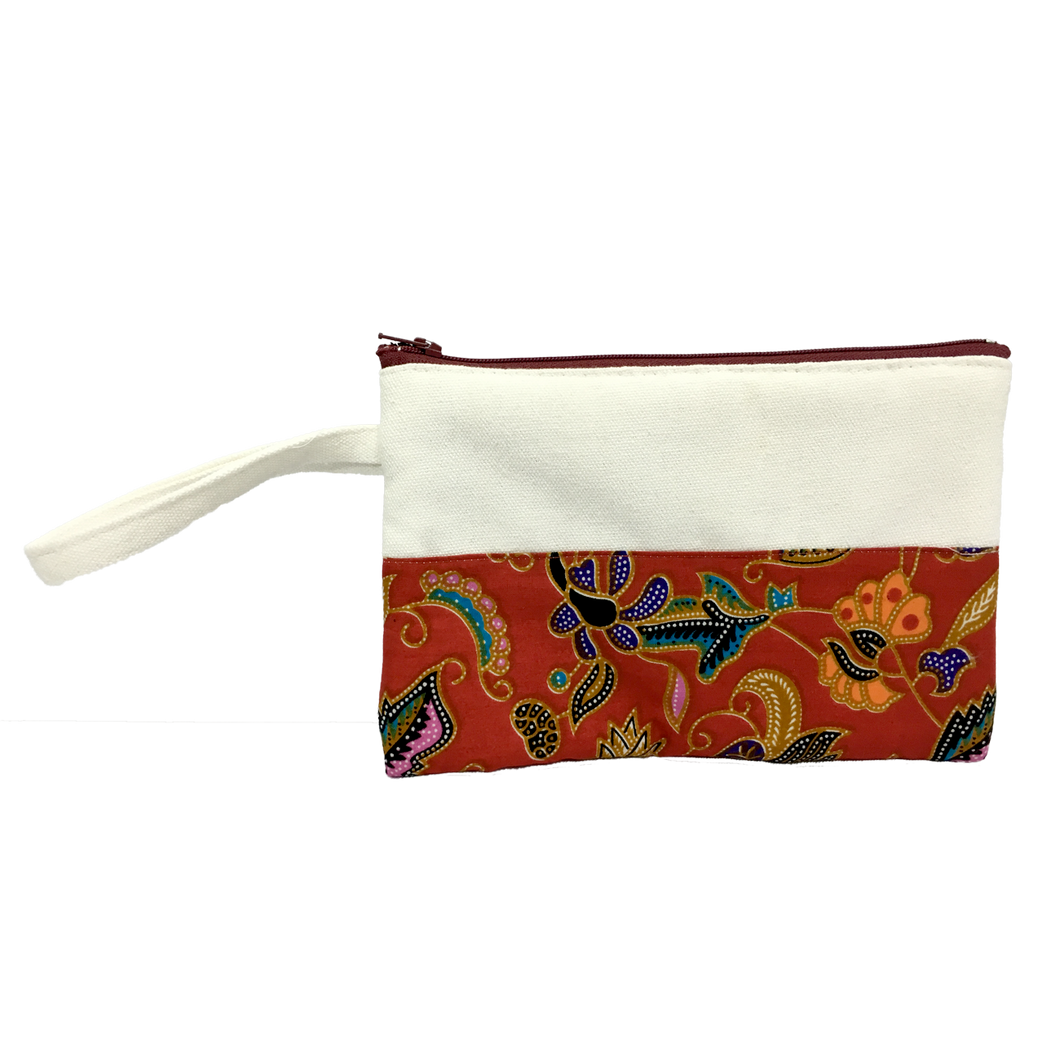 Canvas Batik Stationery Pouch (TC020)